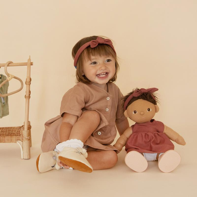 DINKUM DOLL TRAVEL TOGS rose