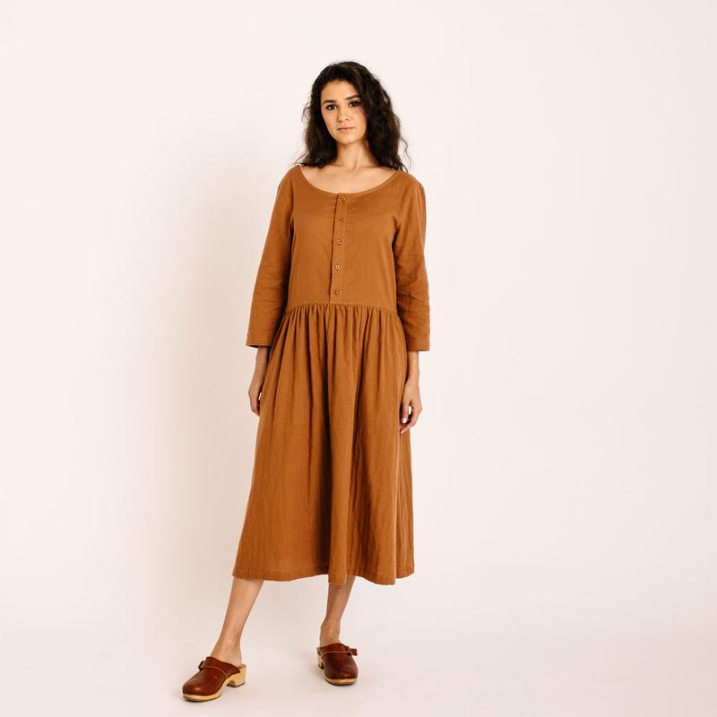 ZINNIA DRESS cinnamon