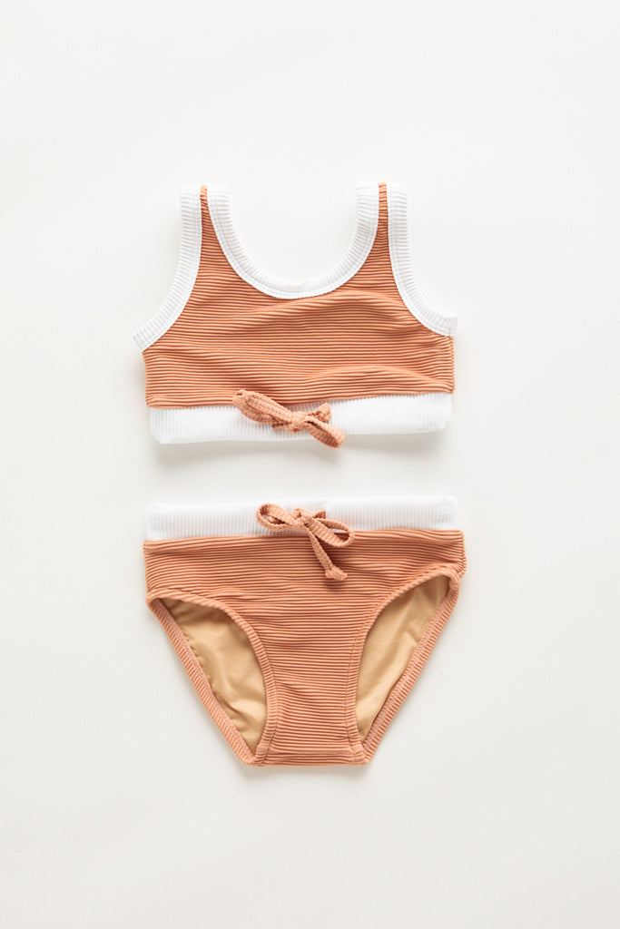 Ribbed Bikini Terracotta