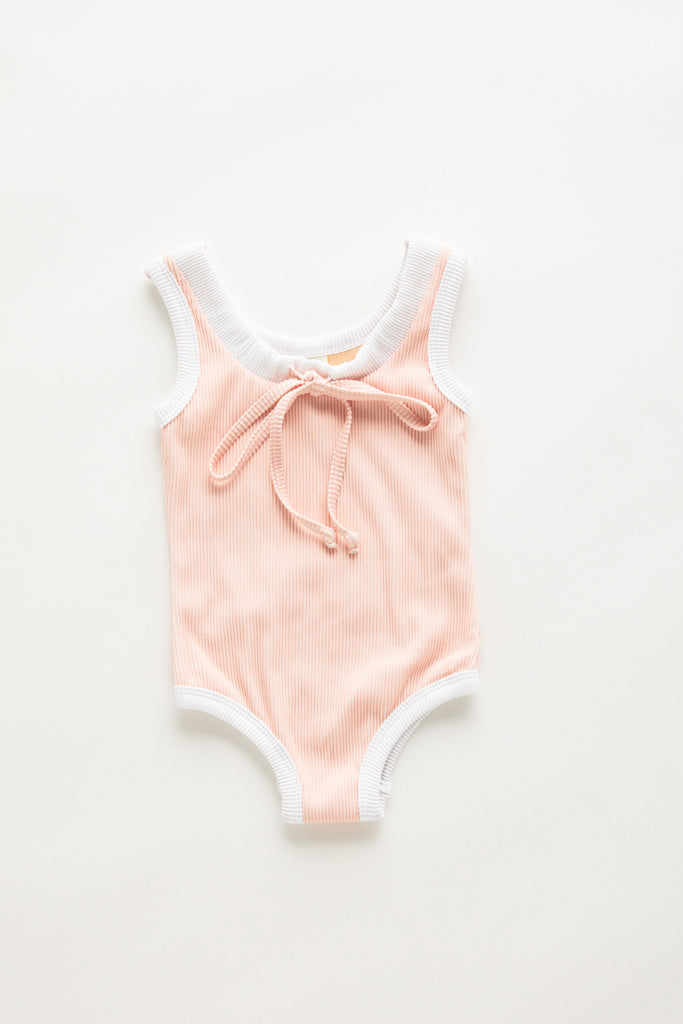 Ribbed Onepiece Blush