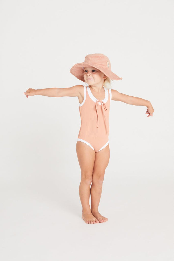 Ribbed Onepiece Terracotta