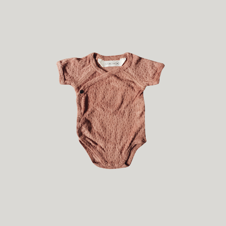 Short Sleeve Terry Bodysuit Bronze