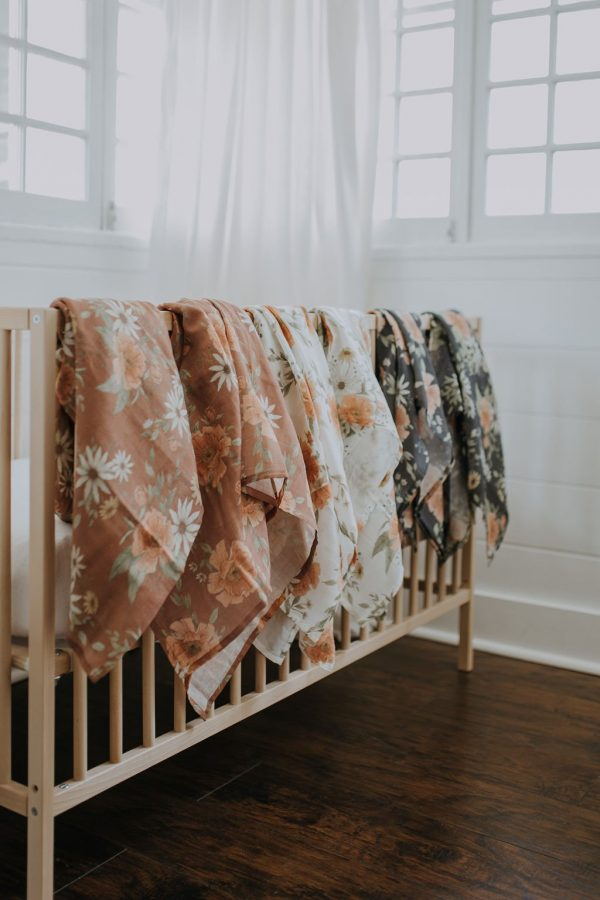 Spring Blossom Swaddle Clay