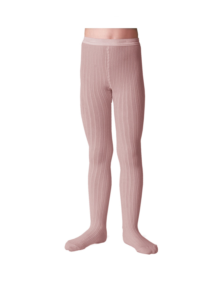 Ribbed Tights Old Rose