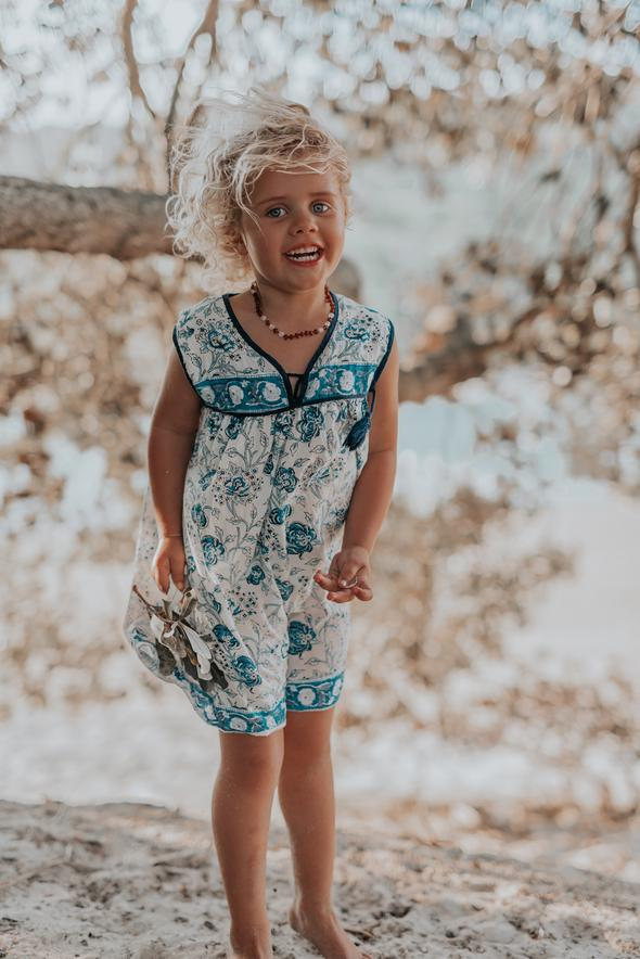 Little Luna Sleeveless Dress - Blue Azalea