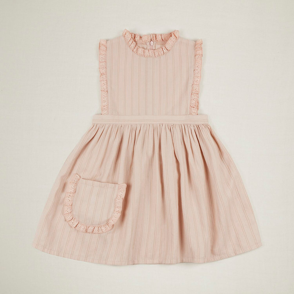 Ida Dress Pink Sand Stripe Last One