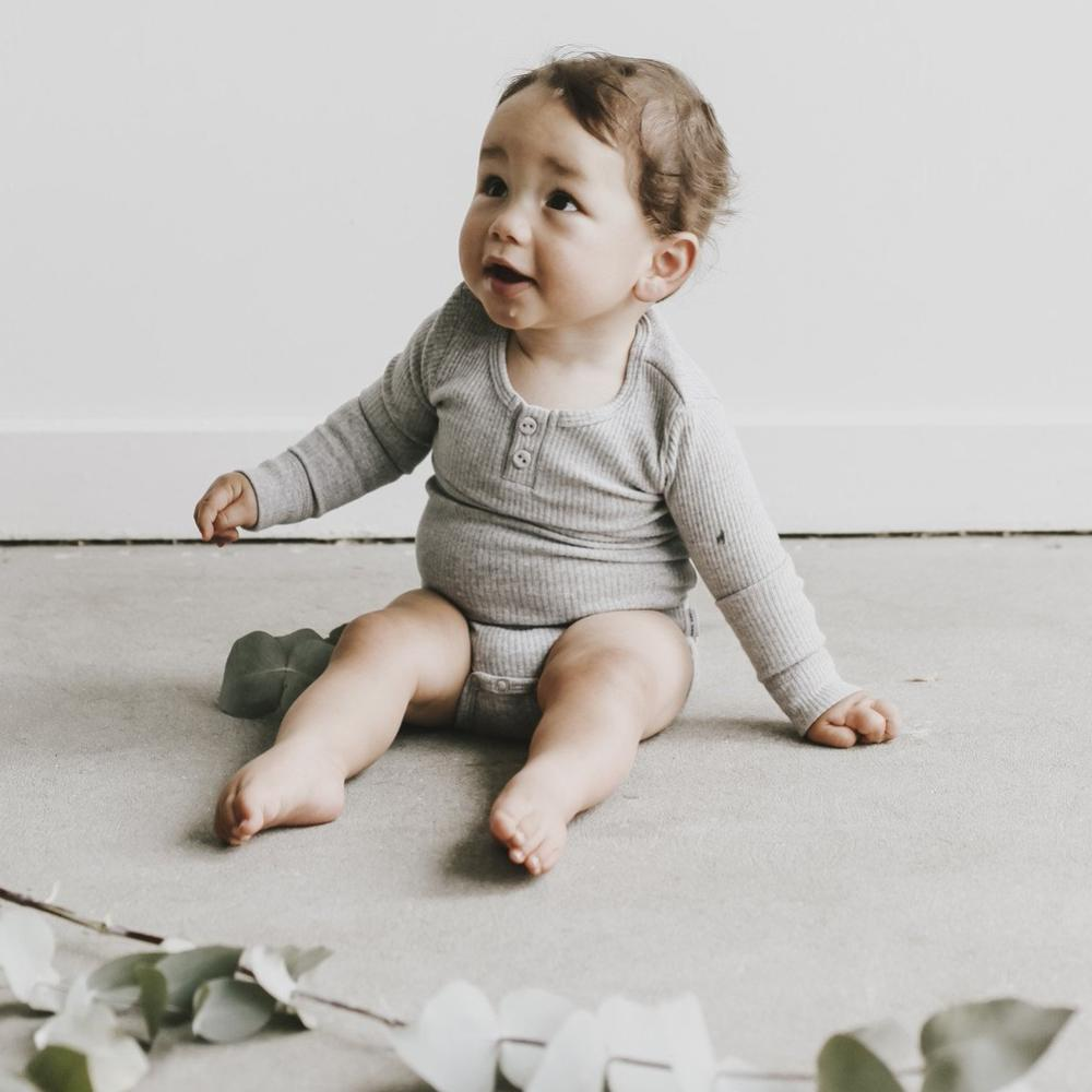Essential Bodysuit Light Grey Marle