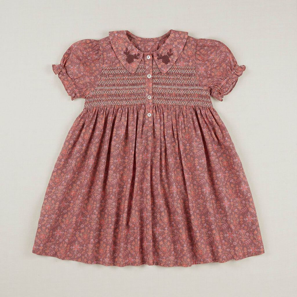 MINNIE DRESS  DARK QUILT PRINT Last One
