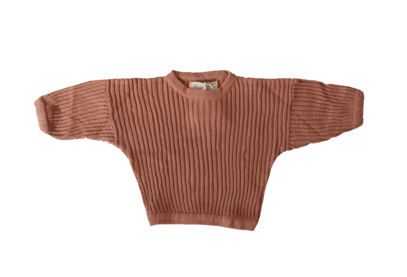Essential knit Pullover | Rust