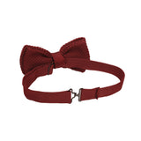 Noeud papillon tricot bordeaux