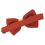 Noeud papillon tricot orange et jaune