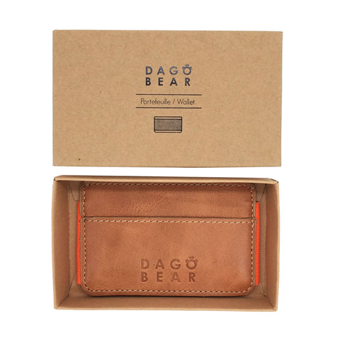 "Portes cartes ""slim wallet"" orange"
