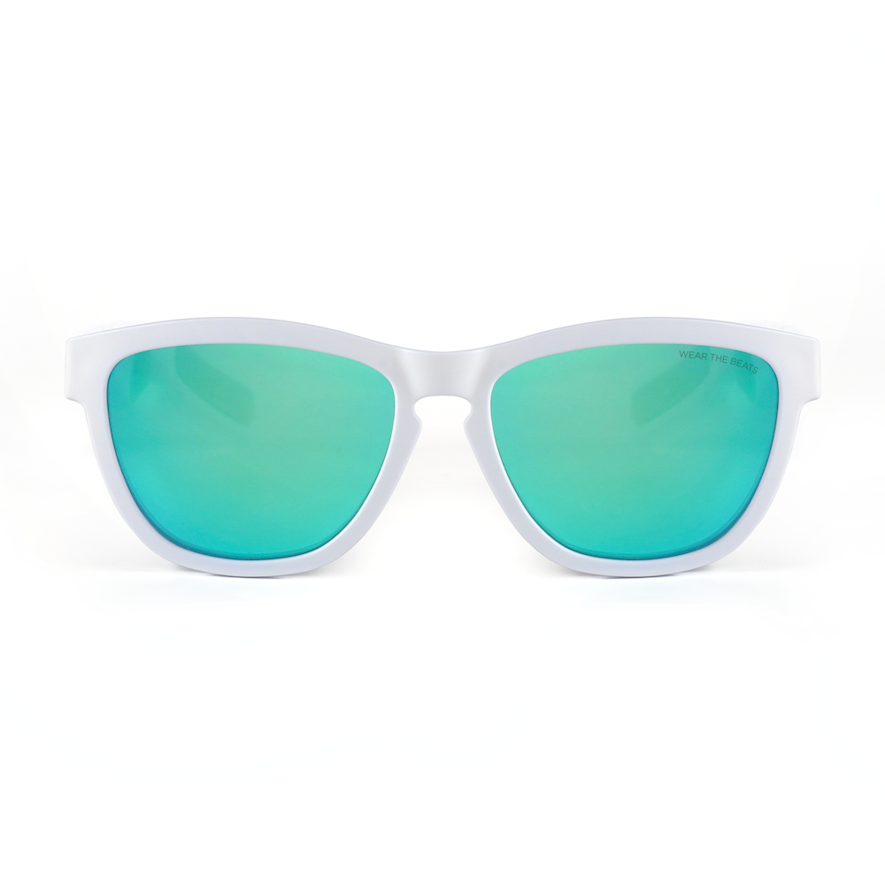 MATTE WHITE - ZUNGLE, VIPER - Bluetooth Sunglasses