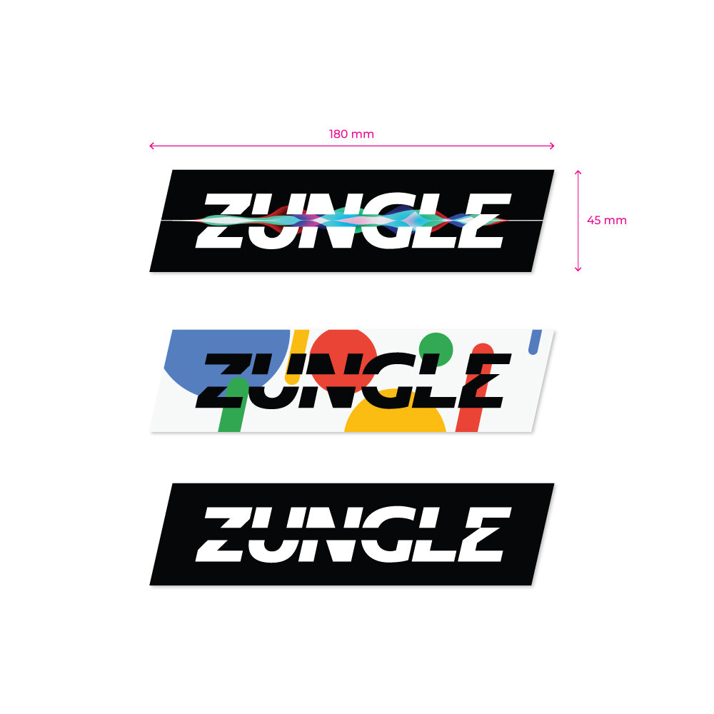 12 STICKERS - ZUNGLE
