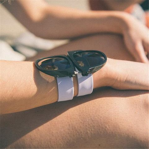 Foldable Rubber Snap Arms Sunglasses