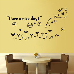 """Have a Nice Day"" Wall Sticker - Rustecor (Home Decor Items)"