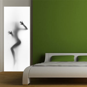 """Silhouette"" Bathroom Removable Shower Door Wall Sticker - Rustecor (Home Decor Items)"