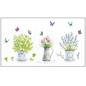 Beautiful Flower Pot Butterfly  Pattern DIY Wall Stickers Waterproof and Removable