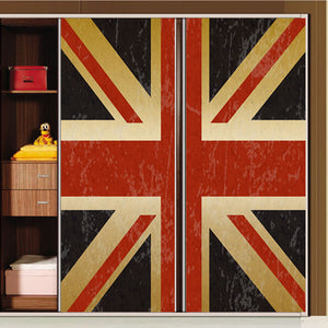 """British Flag"" Self Adhesive Removable Sliding Door Cover - Rustecor (Home Decor Items)"