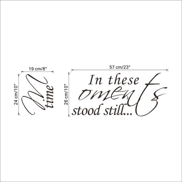 Loving Wall Sticker ''This Moments Time Stood'' Wall Decals Stickers Decal 8560 Home Wedding Decoration - Rustecor (Home Decor Items)