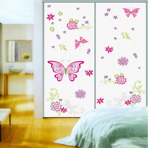 PVC Waterproof Butterfly And flower wall stickers