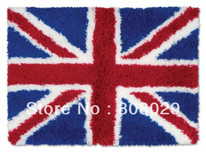 BRITISH Latch hook rug kit 100% acylic yarn set - Rustecor (Home Decor Items)