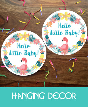 Flamingo Theme - Welcome Home Baby Decorations