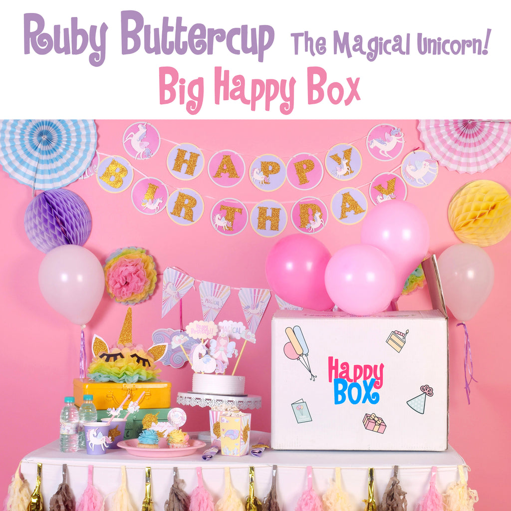 Ruby Buttercup, the Magical Unicorn - Big Happy Box!