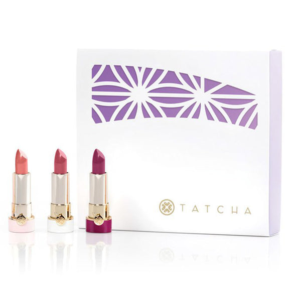 TATCHA Japanese Blossoms Mini Silk Lipsticck Trio