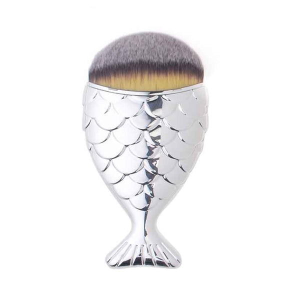 mermaid brush - silver