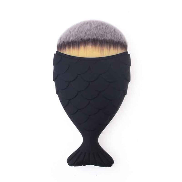 mermaid brush - black