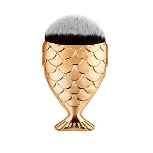 mermaid brush - gold