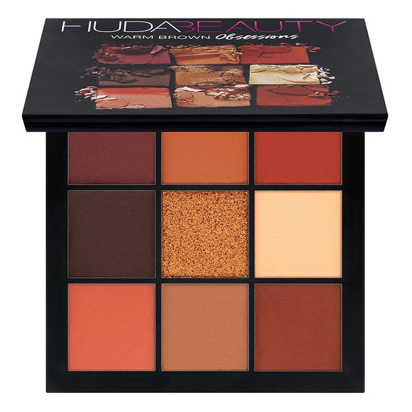 HUDA BEAUTY Obsessions Eyeshadow Palette- warm brown obsessions