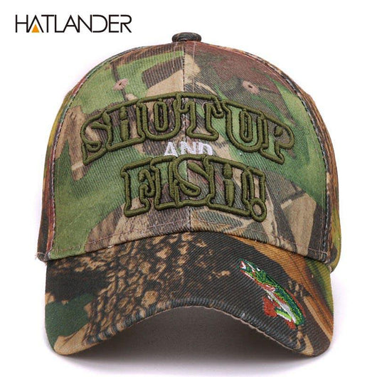 daddbee4a1167 Shut Up n Fish Camouflage Fishing Cap – FisherPros