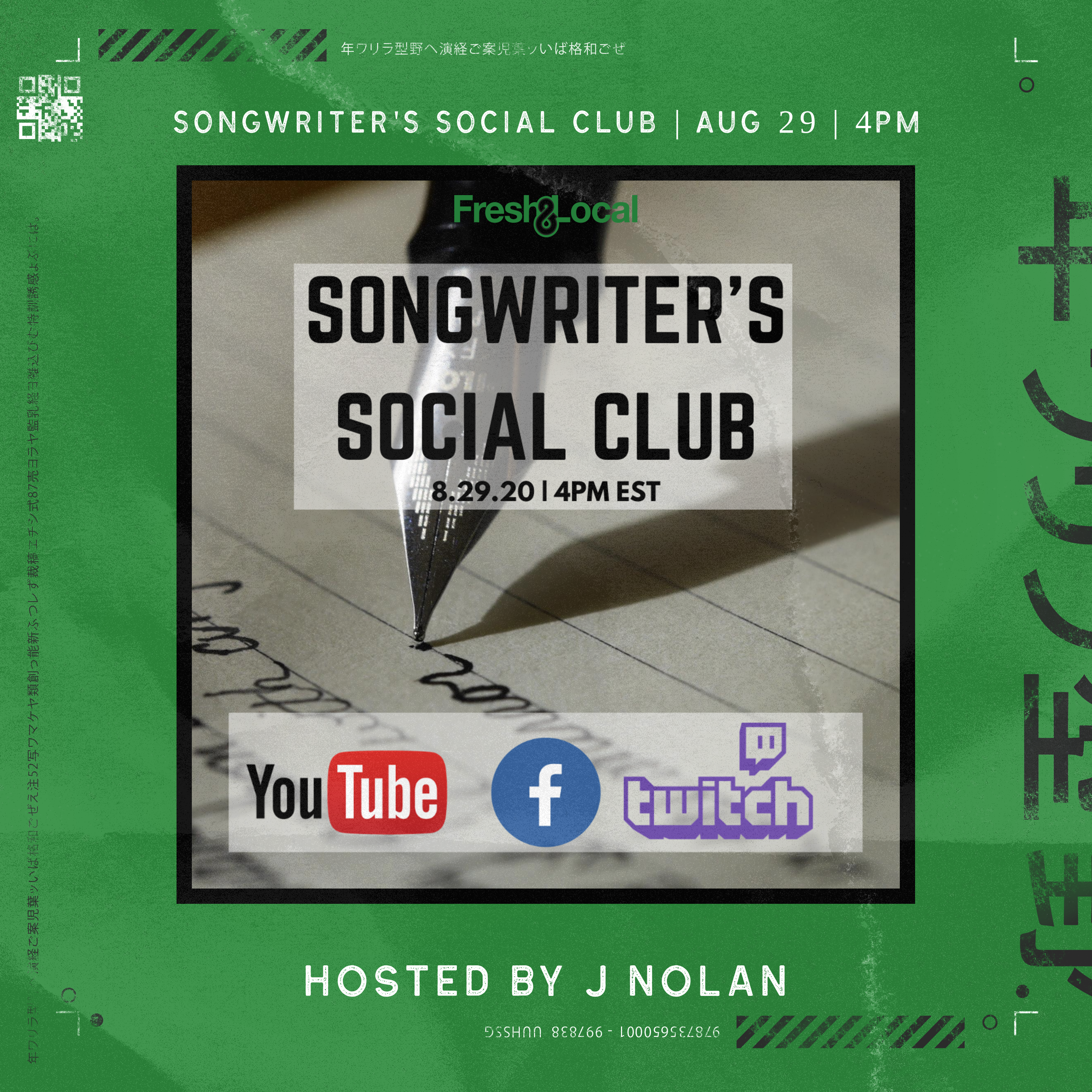 The Songwriter's Social Club is Coming Back on Aug. 29th!