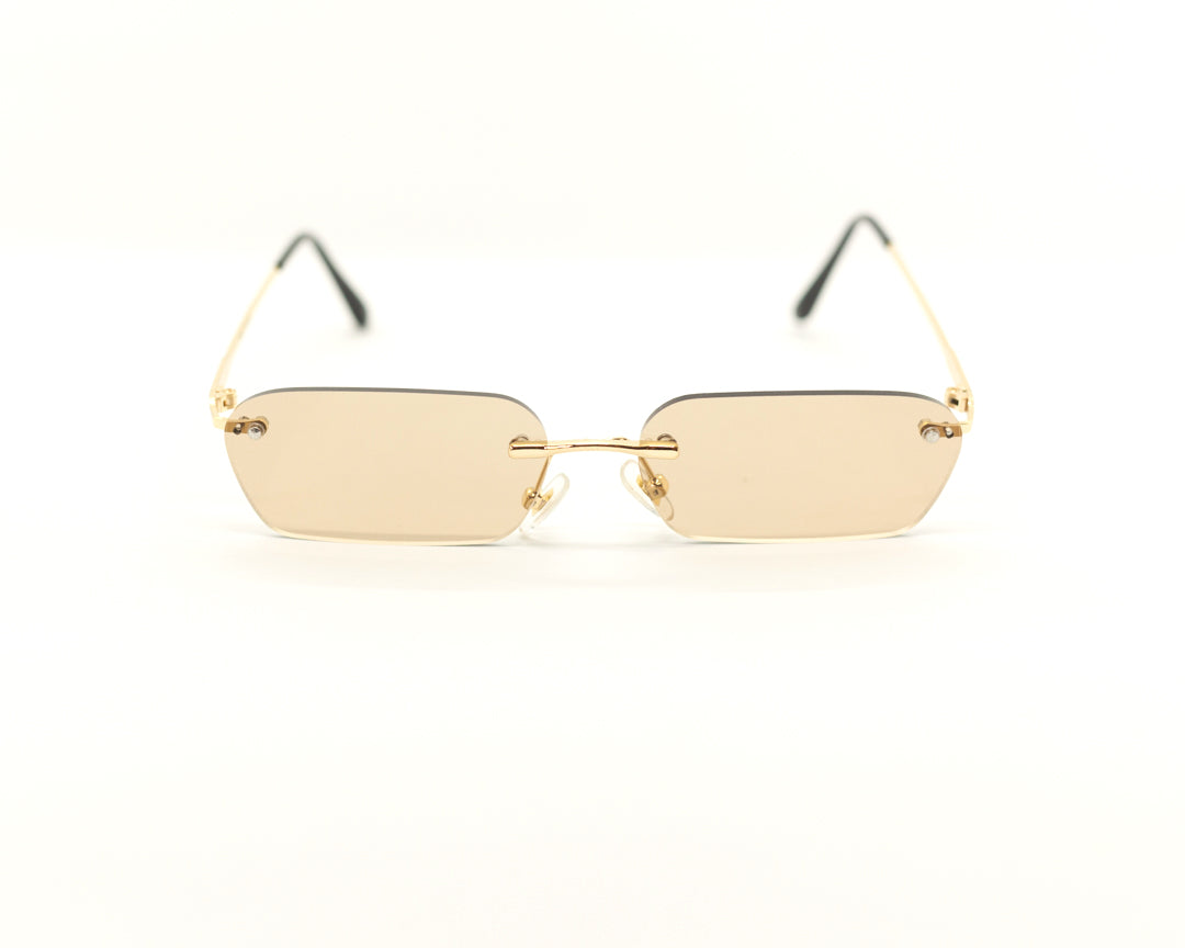 109 Rimless - Gold/Brown