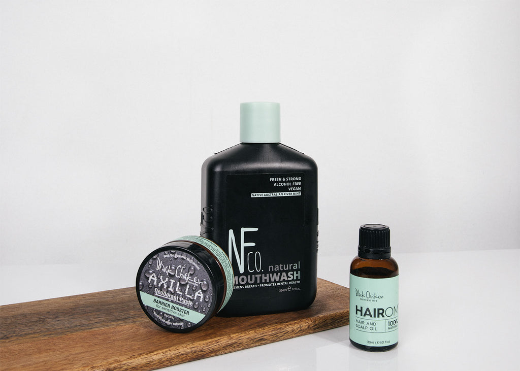 Natural Hair Care and mouthwash