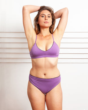 Aster Triangle Bra In Violet
