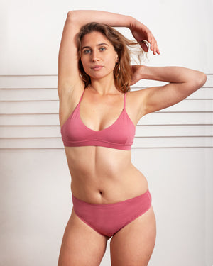 Aster Triangle Bra In Pink