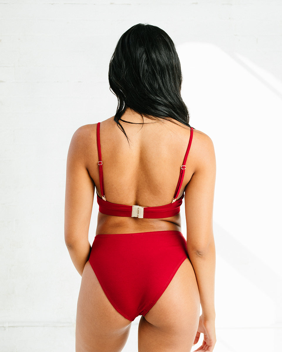 Calla Mid-Rise Brief In Red
