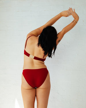 Palm Low-Rise Brief in Red