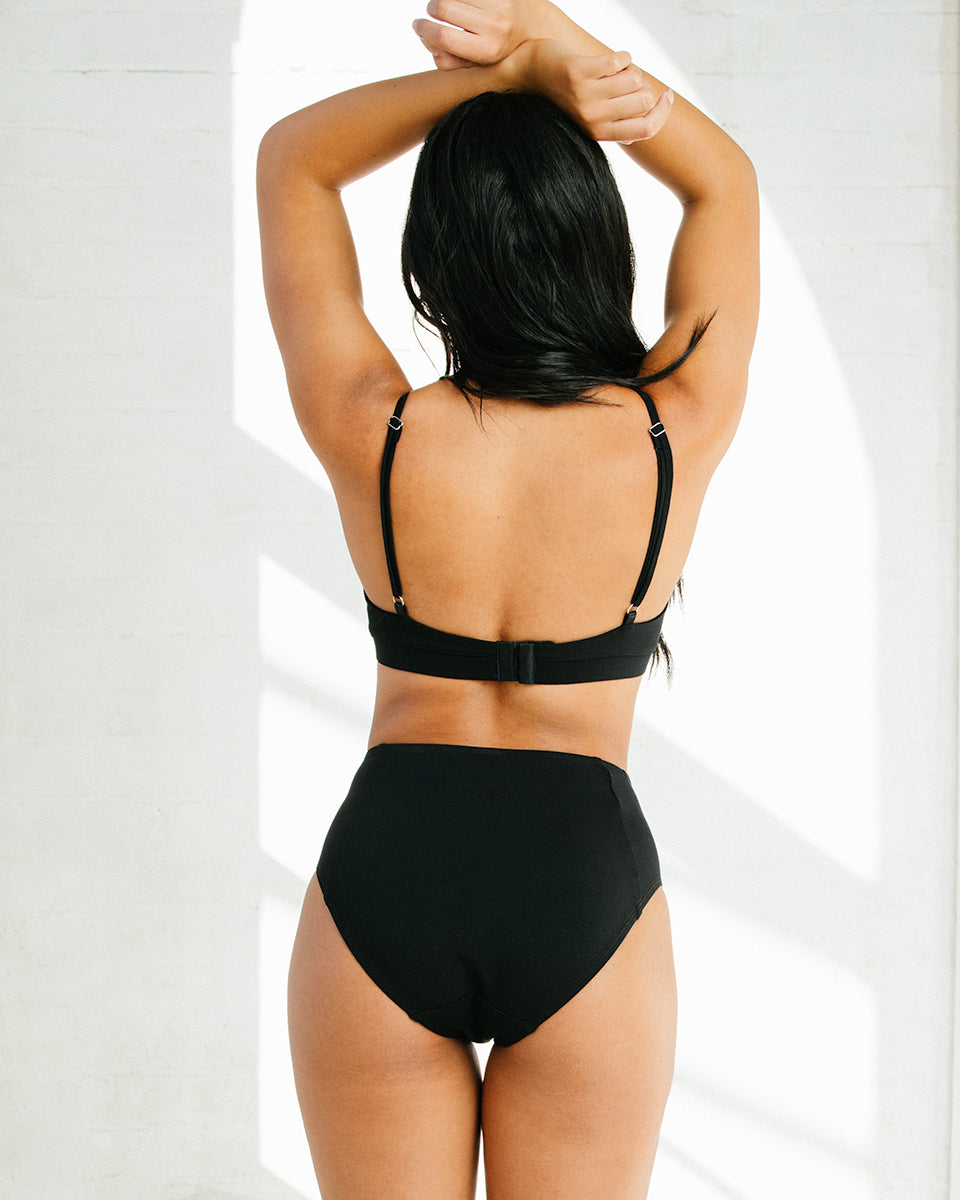 Poppy High Waist Brief In Black