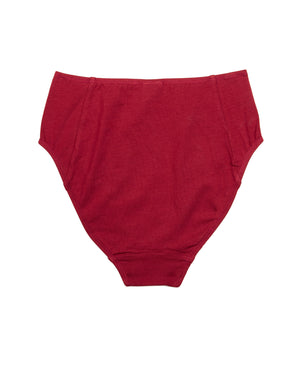 Poppy High Waist Brief In Red