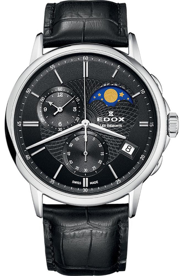Edox Les Bemonts Chronograph Moon Phase 01651 3 NIN