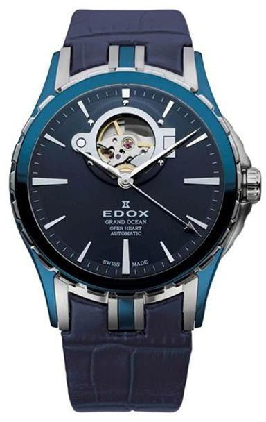 Edox Grand Ocean Open Heart Automatic 85008 357B BUIN