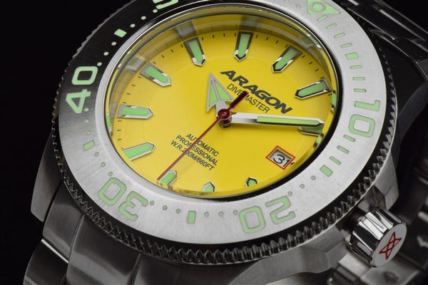 ARAGON Divemaster NH35 Bracelet Watch 45mm A067YEL
