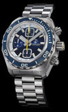 Zelos Hammerhead Chrono Steel Midnight Blue