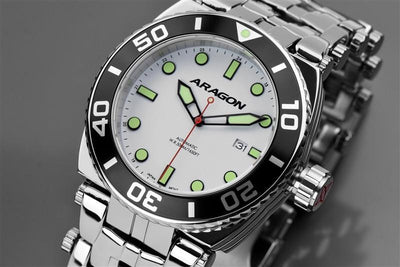 ARAGON Millipede Automatic with Super Luminova Dial A093WHT