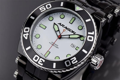 ARAGON Millipede Automatic with Super Luminova Dial A094WHT