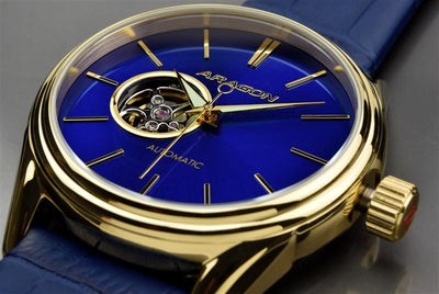 ARAGON Caprice IP Gold 49mm A104BLU